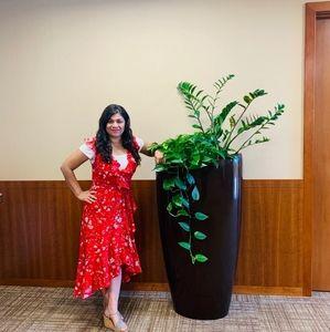 Floral Hi- Low Wrap Dress